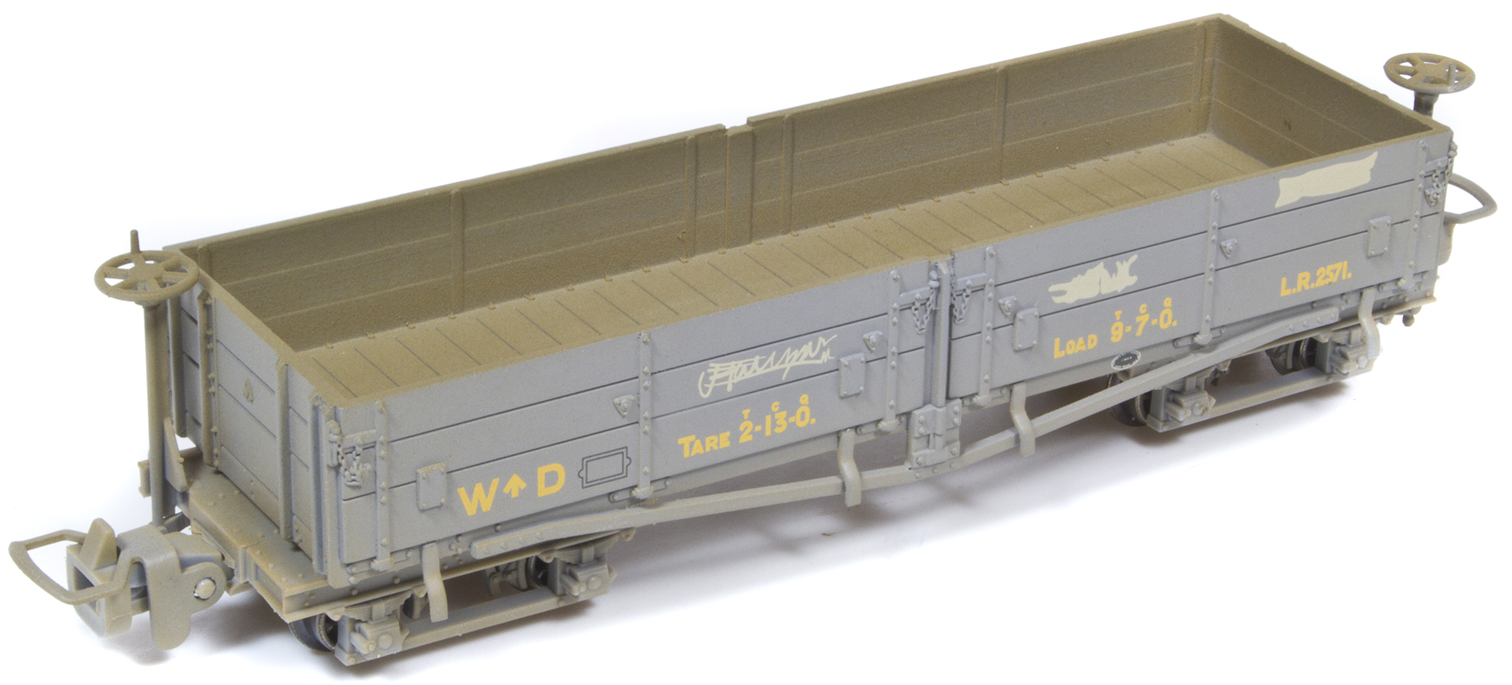 Bachmann 393-050 open oggie wagon WD grey ( weathered)
