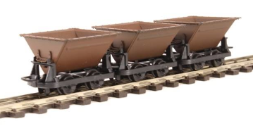 Peco GR-330 Hudson Rugga V-Skip Wagons x3 Brown