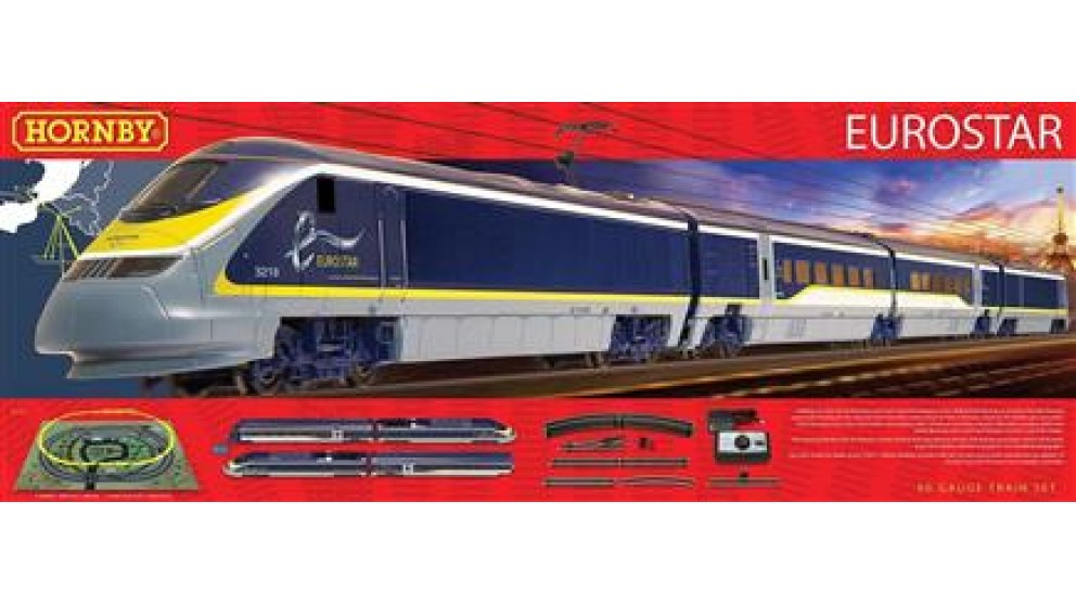 Hornby R1176 EUROSTAR Train set DCC Ready