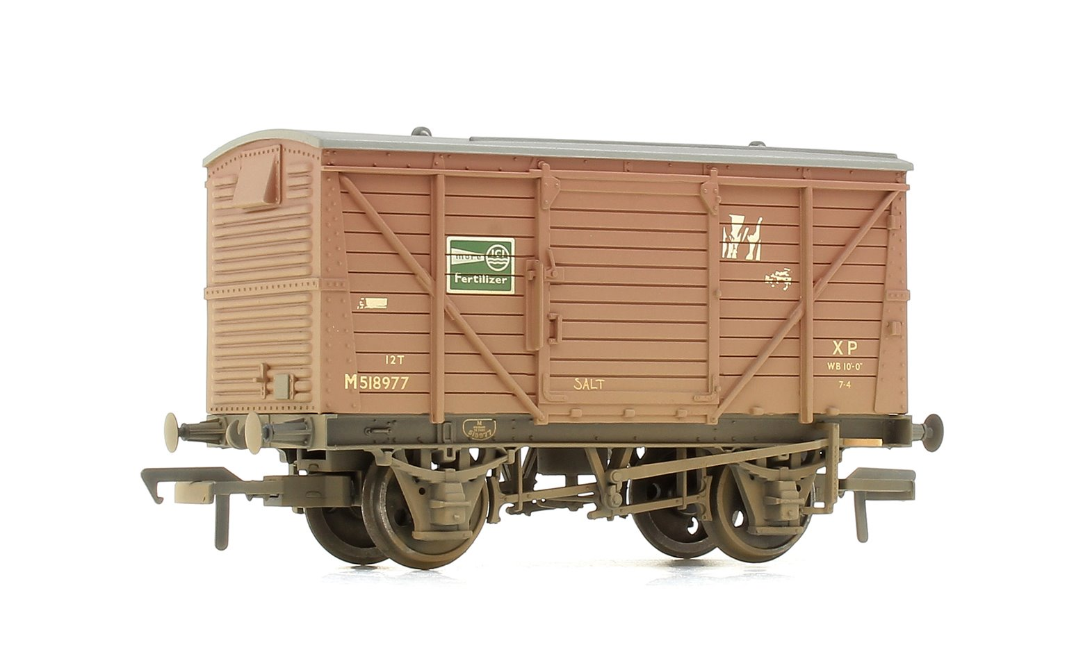 "Bachmann 37-805 12 Ton Van BR Bauxite ""ICI Fertilizer"" - Weathered"