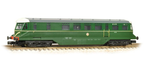 Bachmann 371-628 GWR Railcar W22W BR Brunswick Green speed whiskers