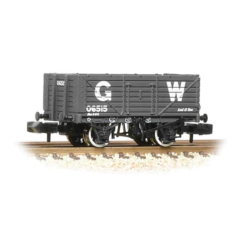 Graham Farish 377-088 7 plank end door wagon GWR grey