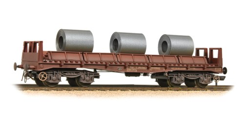 Bachmann 38-353 BAA Steel Carrier Wagon BR Brown with Coils - Weathered