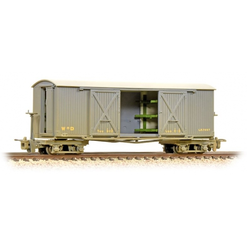 Bachmann 393-025 boggie ambulance van WD grey ( weathered)