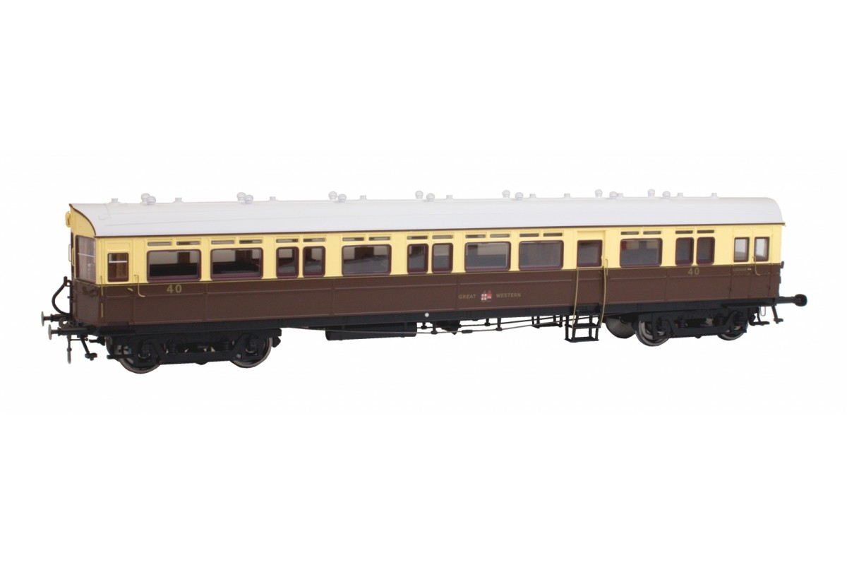 7P-004-004 AUTOCOACH GWR GREAT CREST WESTERN N40 CHOCOLATE & CREAM