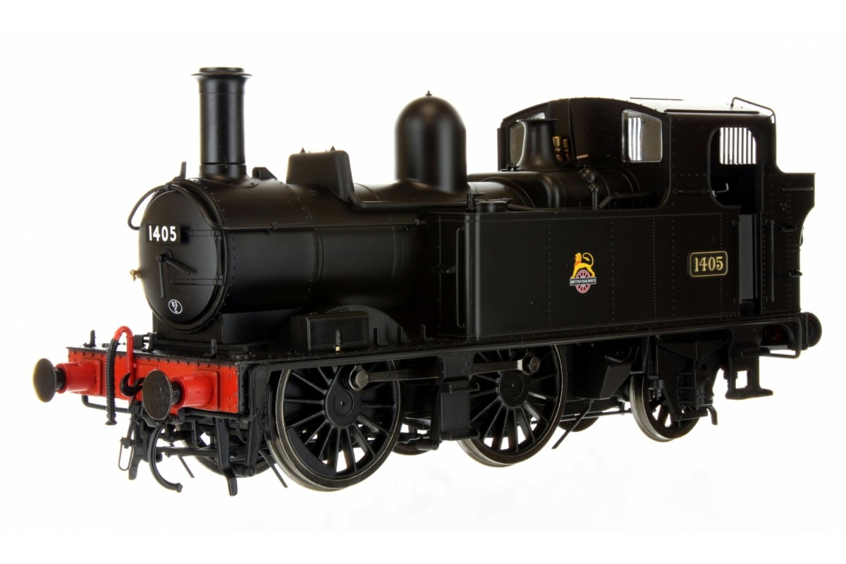7S-006-021 O GAUGE 14XX CLASS BR EARLY CREST BLACK 1405 AUTO FITTED TOP FEED