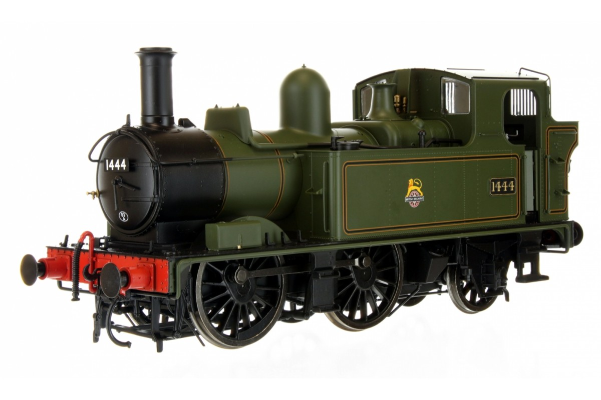 7S-006-022 O GAUGE 14XX CLASS BR EARLY CREST LINED GREEN 1444 AUTO FITTED TOP FEED