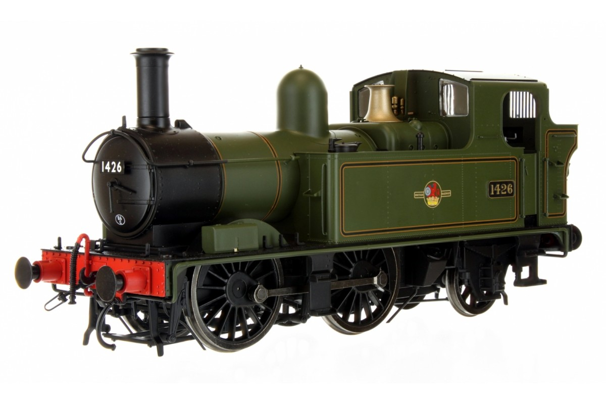 7S-006-023 O GAUGE 14XX CLASS BR LATE CREST LINED GREEN 1426 AUTO FITTED TOP FEED