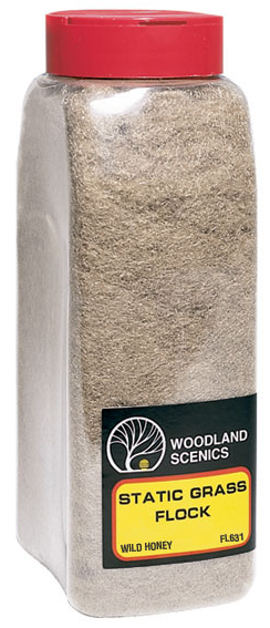 Woodland Scenics FL631 Static Flock Wild Honey - Shaker