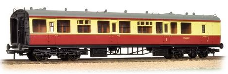 Bachmann 34-081A Collett 60ft 1st/2nd brake composite BR crimson & cream