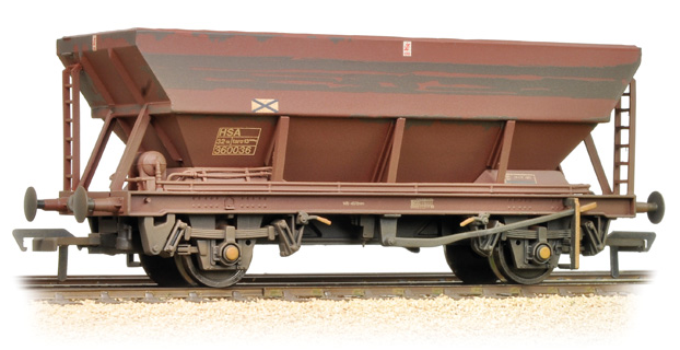 Bachmann 38-005C 46t HSA hopper wagon BR bauxite (weathered)