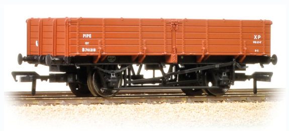 Bachmann 38-700 12t Pipe Wagon BR Bauxite (Early)
