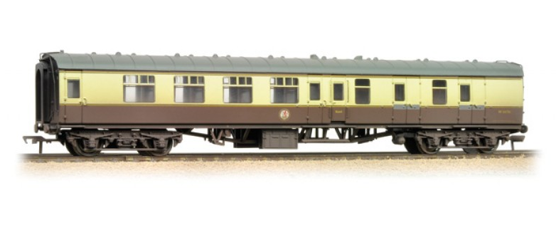 Bachmann 39-079C BR Mk1 BSK Brake Second Corridor Chocolate & Cream (weathered)
