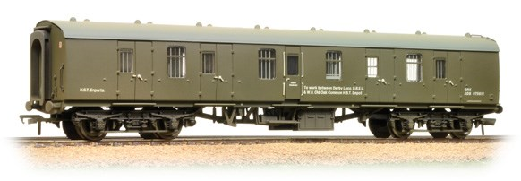 Bachmann 39-186 Mk1 BG Full Brake in Departmental Olive Green (weathered)