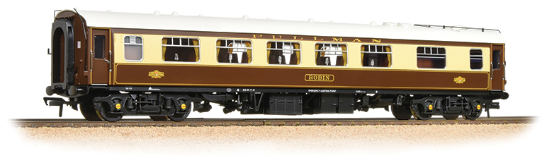 Bachmann 39-282 BR Mk1 FK Pullman Kitchen 1st coach 'Robin' Umber & Cream (with lighting)