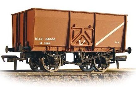 Bachmann 37-426B 16t Slope Side Mineral Wagon M.O.T. Brown