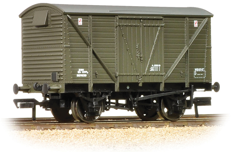 Bachmann 38-162 12t BR Planked Ventilated Van Departmental Olive