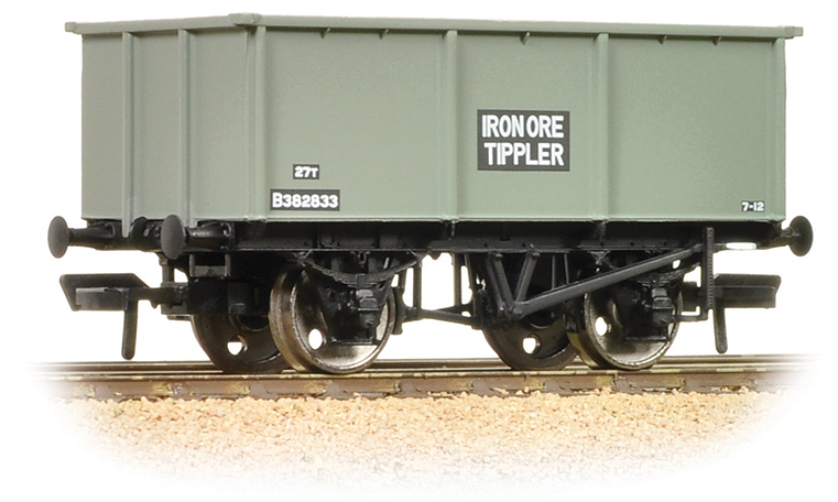 Bachmann 37-275F 27t Steel Tippler Wagon BR Grey 'Iron Ore'