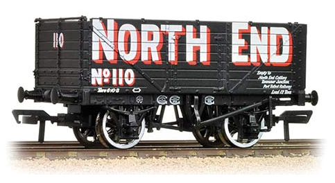 Bachmann 37-085A 7 plank end door wagon 'North End'