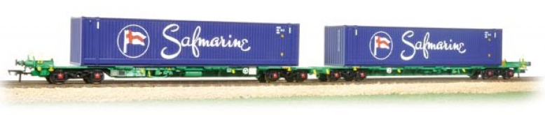 Bachmann 37-314 Intermodal bogie wagon with 2 x 45ft containers 'Safmarine'
