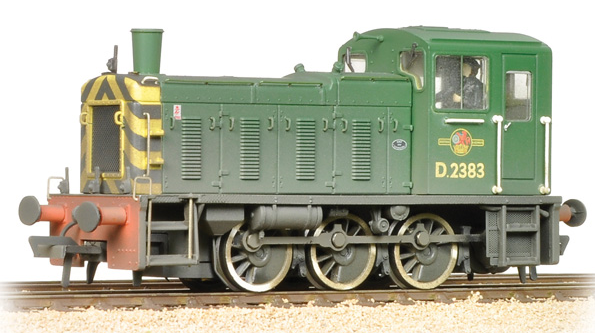 Bachmann 31-364 Class 03 Shunter D2383 BR Green Wasp Stripes (weathered)
