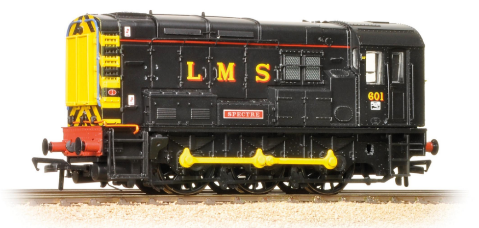 Bachmann 32-106K Class 08 Shunter 601 'Spectre' LMS Black - Collectors Club