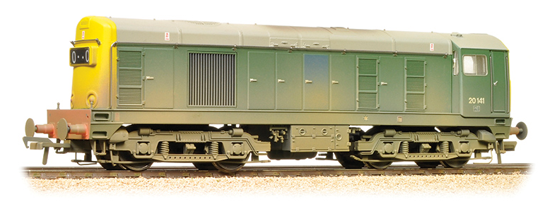 Bachmann 32-034A Class 20 20141 BR Green Full Yellow Ends (weathered)