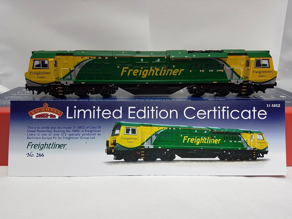 Bachmann 31-585Z Class 70 Diesel 70001 Freightliner - Limited Edition