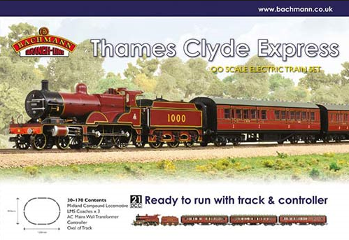 Bachmann 30-170 Thames Clyde Express Train Set