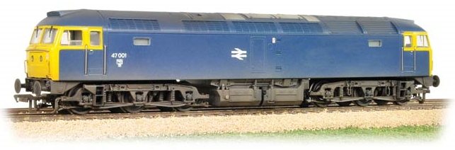 Bachmann 31-659 Class 47/0 47001 BR Blue (weathered)