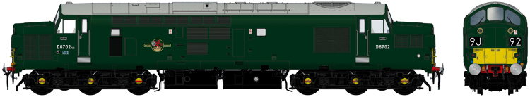 Accurascale English Electric Type 3 (Class 37) - D6704 BR green with full yellow ends (late 1960s) - DCC Ready (PRE-ORDER ONLY)