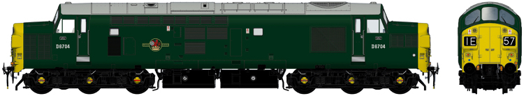 Accurascale English Electric Type 3 (Class 37) - D6702 BR green with half yellow ends (mid 1960s) - DCC Ready (PRE-ORDER ONLY)