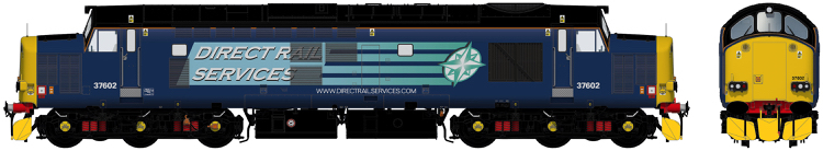 Accurascale Class 37/6 - 37602 Direct Rail Services blue with 'Compass' logos - DCC Ready (PRE-ORDER ONLY)