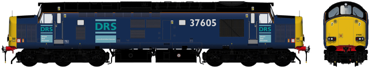 Accurascale Class 37/6 - 37605 Direct Rail Services blue with original logos - DCC Sound (PRE-ORDER ONLY)