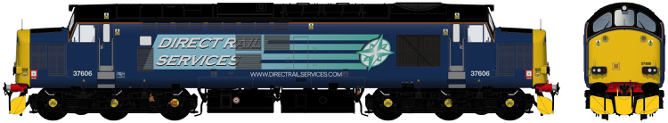 Accurascale Class 37/6 - 37606Direct Rail Services blue with 'Compass' logos - DCC Ready (PRE-ORDER ONLY)