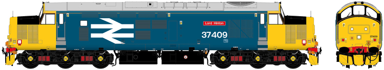 "Accurascale Class 37/4 - 37409 ""Lord Hinton"" BR Large Logo DCC Sound (PRE-ORDER ONLY)"