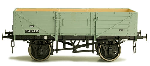 Dapol 7F-053-007 5 Plank Wagon Corrugated End BR Diag 39 Grey B494780
