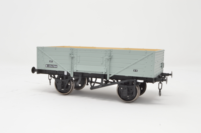 7F-053-007 5 Plank Wagon Corrugated End BR Diag 39 Grey B494780