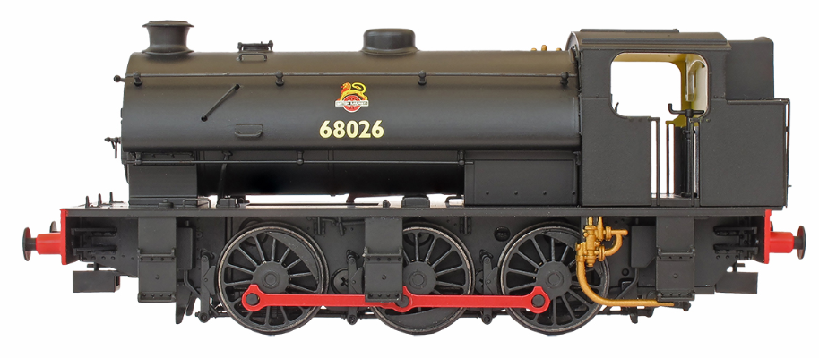 DJ Models OOJ94-001 Class J94 Austerity 0-6-0ST Tall Bunker 68023 BR black with early crest