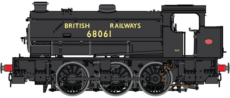 DJ Models OOJ94-002 Class J94 Austerity 0-6-0ST Standard Bunker 68061 BRITISH RAILWAYS