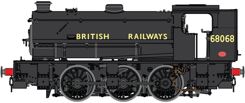 DJ Models OOJ94-005 Class J94 Austerity 0-6-0ST Tall Bunker 68068 BRITISH RAILWAYS