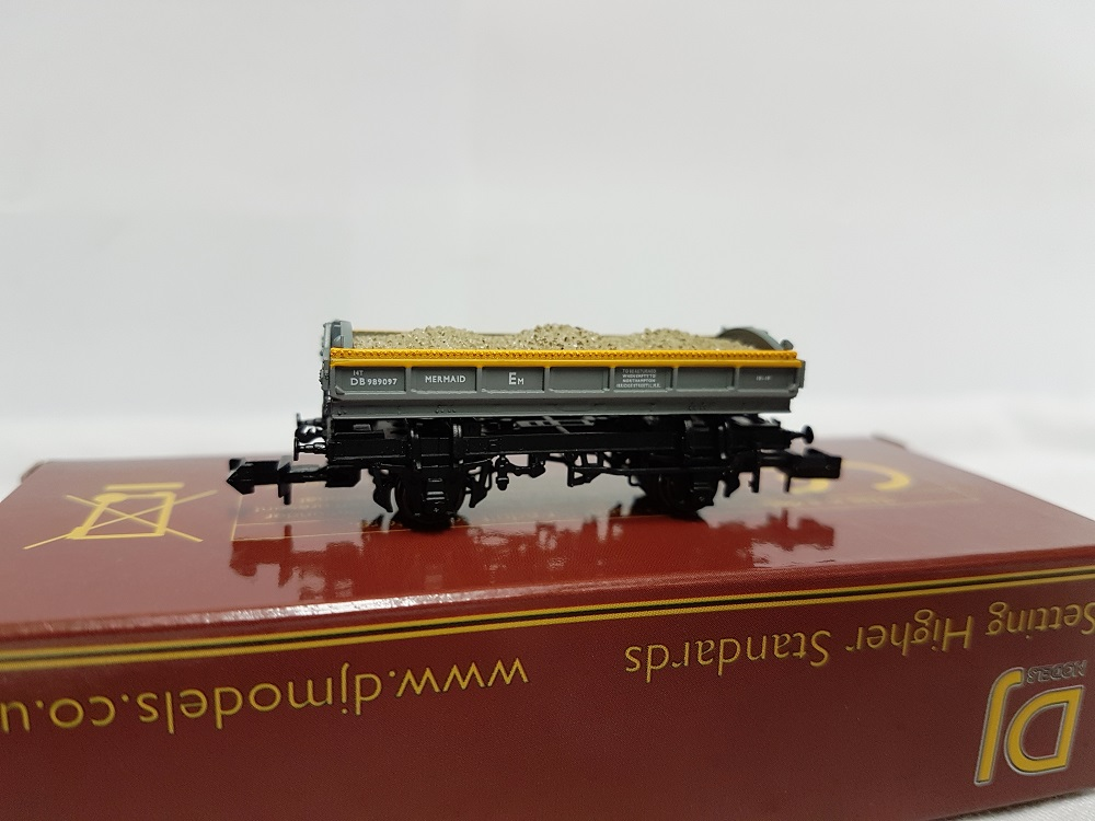 DJ Models DJM-N-RS-100013A Mermaid Ballast Tippler Wagon ZJV DB989097 Civil Engineers 'Dutch' grey & yellow
