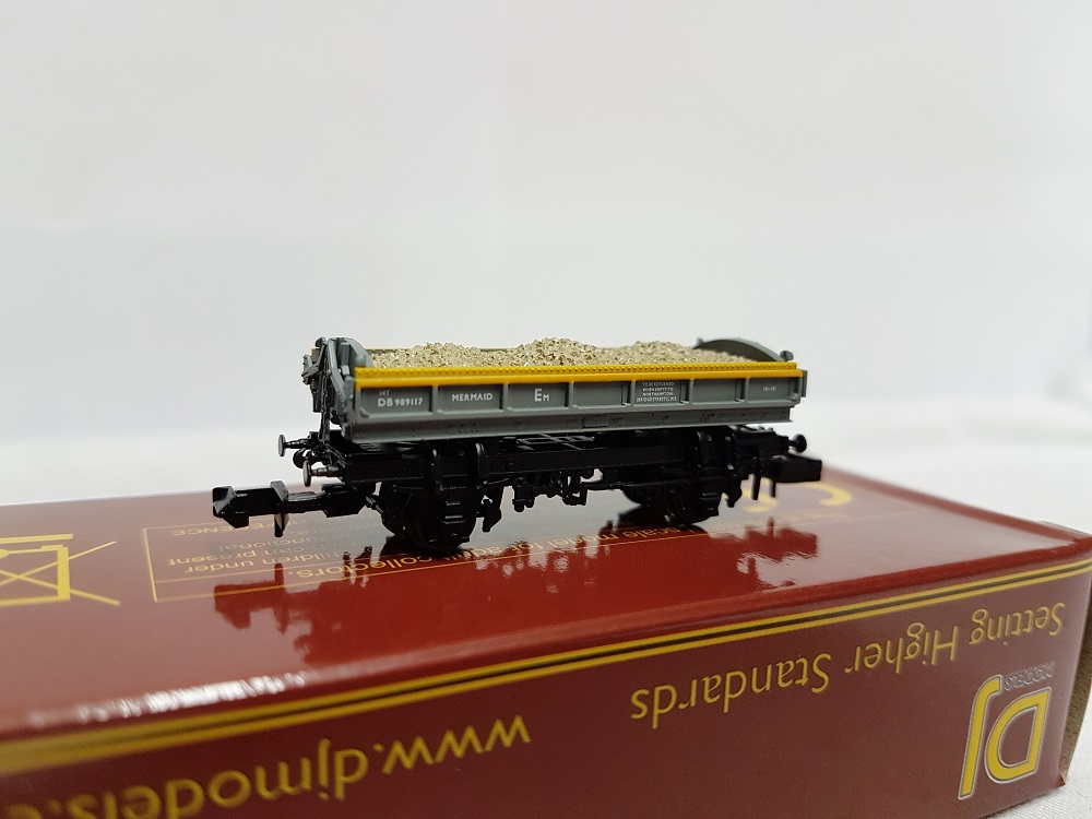 DJ Models DJM-N-RS-100013B Mermaid Ballast Tippler Wagon ZJV DB989117 Civil Engineers 'Dutch' grey & yellow