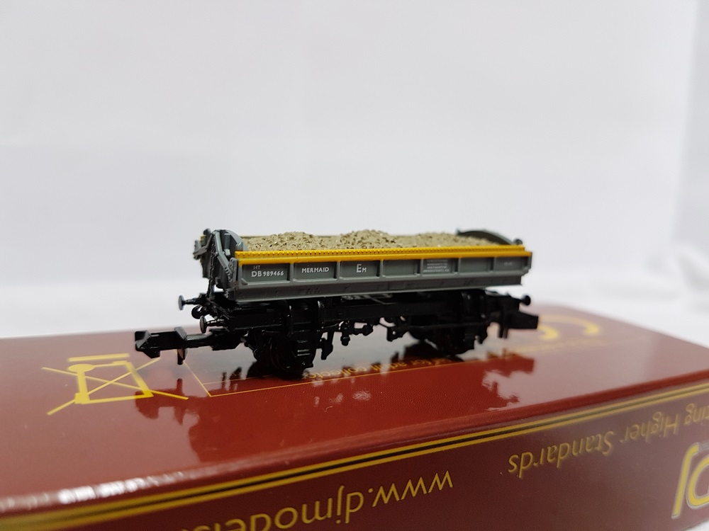 DJ Models DJM-N-RS-100013C Mermaid Ballast Tippler Wagon ZJV DB989466 Civil Engineers 'Dutch' grey & yellow