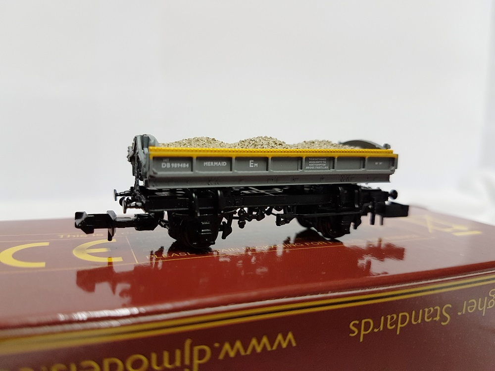 DJ Models DJM-N-RS-100013D Mermaid Ballast Tippler Wagon ZJV DB989484 Civil Engineers 'Dutch' grey & yellow