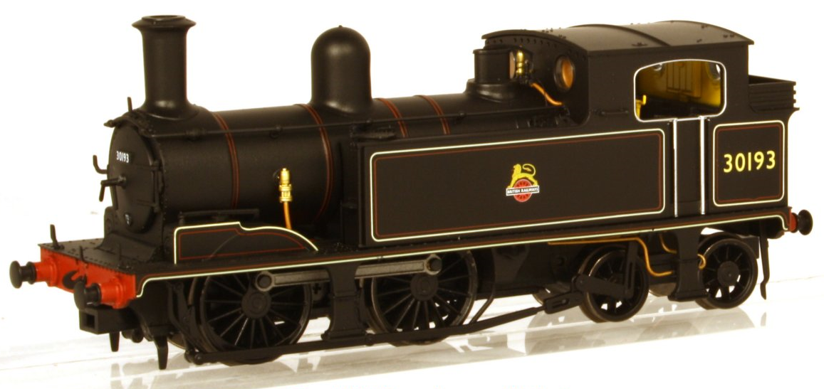 DJ Models K2106 Adams O2 0-4-4T 30193 BR Black with early emblem (Kernow Exclusive)