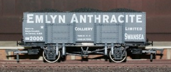 Dapol B861 20t steel mineral wagon Emlyn Anthracite