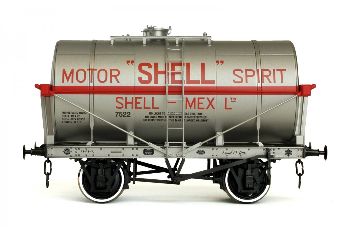 Dapol 7F-058-004 14T Tank Wagon Class A Shell Motor Spirit Silver - Click Image to Close