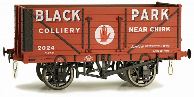 Dapol 7F-071-023 7 Plank Open Wagon BLACK PARK CHIRK