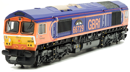 Dapol ND-201D Class 66 66729 'Derby County' GBRF Powered